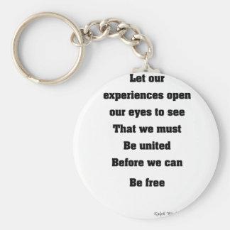 Black unity key ring