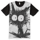 Black Unkempt Kitten GabiGabi All-Over Print T-Shirt