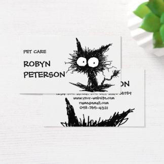 Black Unkempt Kitten GabiGabi Business Card