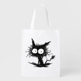 Black Unkempt Kitten GabiGabi Reusable Grocery Bag