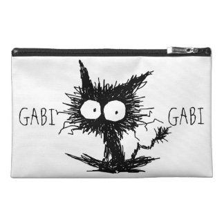 Black Unkempt Kitten GabiGabi Travel Accessory Bag