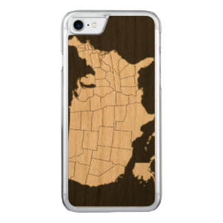 black USA map Carved iPhone 7 Case
