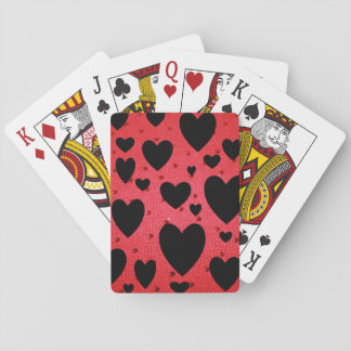 Black Valentines Playing Cards