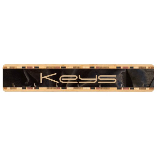 Black Velvet Key Rack Wood Keyrack