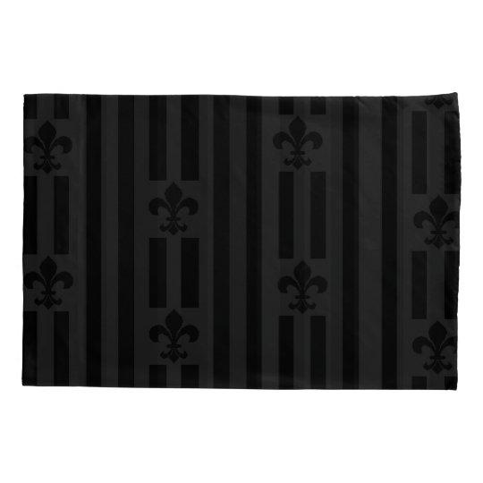 Black Velvet Reversible Pillowcase