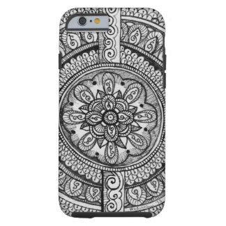 Black Velvet White Damask Dreamcatcher Mandala Art Tough iPhone 6 Case