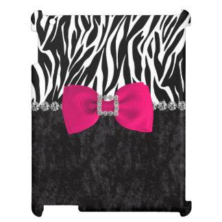 Black Velvet Zebra Print Bling Designer Cover For The iPad