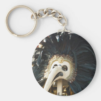Black Venetian Mask Tee Key Ring