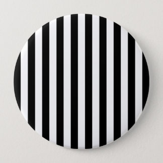 Black Vertical Stripes 10 Cm Round Badge