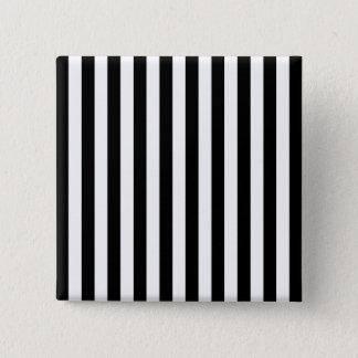 Black Vertical Stripes 15 Cm Square Badge