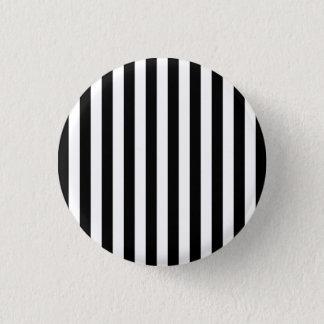 Black Vertical Stripes 3 Cm Round Badge
