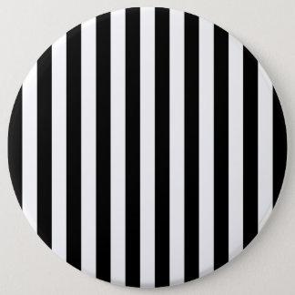 Black Vertical Stripes 6 Cm Round Badge