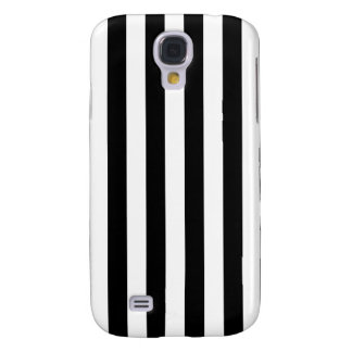 Black Vertical Stripes Galaxy S4 Covers