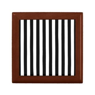 Black Vertical Stripes Gift Box