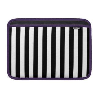 Black Vertical Stripes MacBook Sleeve