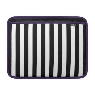 Black Vertical Stripes MacBook Sleeves