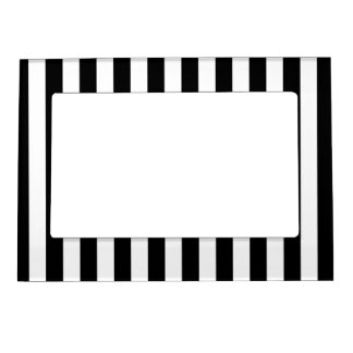 Black Vertical Stripes Magnetic Frame