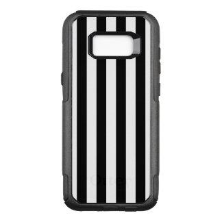 Black Vertical Stripes OtterBox Commuter Samsung Galaxy S8+ Case