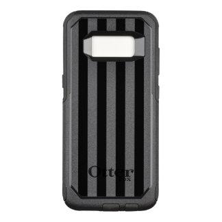 Black Vertical Stripes OtterBox Commuter Samsung Galaxy S8 Case