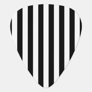 Black Vertical Stripes Plectrum