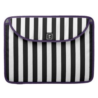 Black Vertical Stripes Sleeve For MacBook Pro