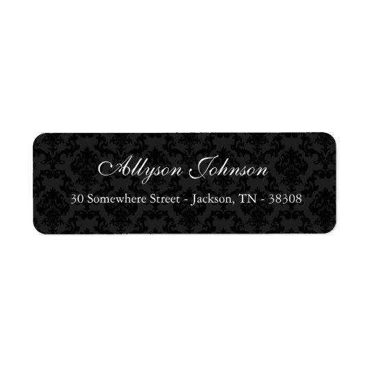 Black Vintage Background Return Address Labels