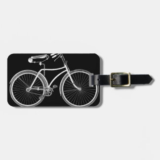 Black Vintage Bicycle Antique/Retro Cycling Luggage Tag