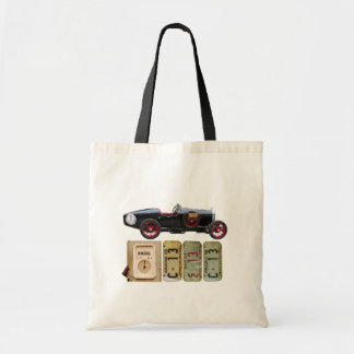 Black Vintage Car Tote Bag