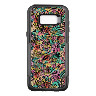 Black Vintage Floral Paisley Colorful Back G1 OtterBox Commuter Samsung Galaxy S8+ Case