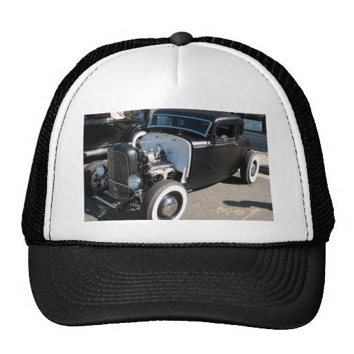 Black Vintage Hot Rod Hats