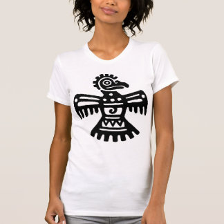Black Vintage Mexican Bird Symbol T-Shirt