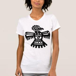 Black Vintage Mexican Bird Symbol Tee Shirts