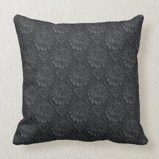 Black Vintage Pattern Cushion
