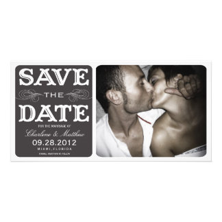BLACK VINTAGE  | SAVE THE DATE ANNOUNCEMENT CUSTOM PHOTO CARD