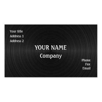 Black vinyl pack of standard business cards