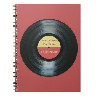 Black Vinyl Record Effect - Days of Vinyl Notebook