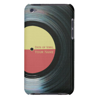 Black Vinyl Record Effect Yellow Label iPod 4G iPod Touch Cover