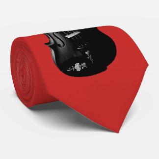BLACK VIOLIN-TIE-ON BRUSHED  RED CHERRY TIE