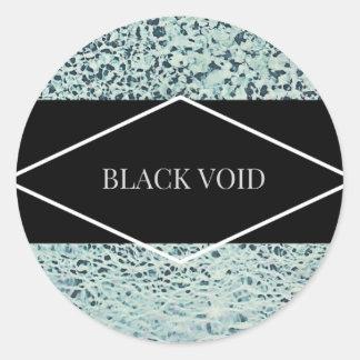 BLACK VOID LIQUID DIAMOND STICKERS