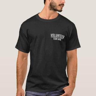Black Volunteer with Custom Team Name T-Shirt