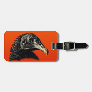 Black Vulture Buzzard Customizable Luggage Tag