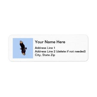 Black Vulture Return Address Label