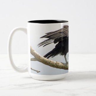 Black Vulture Large Mug