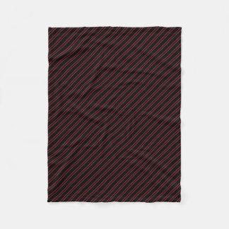 Black w/ Burgundy Diagonal Stripes Fleece