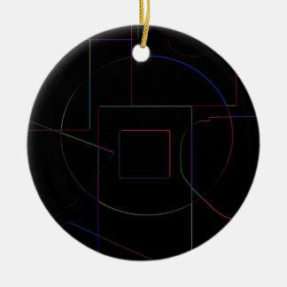 Black w/ Color Shapes Ornament