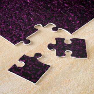 Black w/Pink Splatter Jigsaw Puzzle