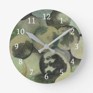 Black Walnuts Round Clock