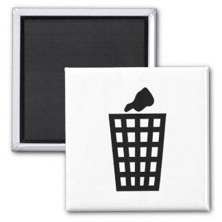Black Waste Bin Magnet