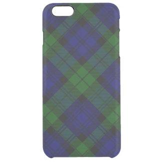 Black Watch clan tartan blue green plaid Clear iPhone 6 Plus Case