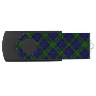 Black Watch clan tartan blue green plaid Swivel USB 3.0 Flash Drive